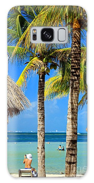 Cancun Beach Galaxy Case