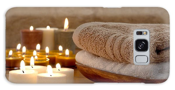 Candles And Towels In A Spa Galaxy Case