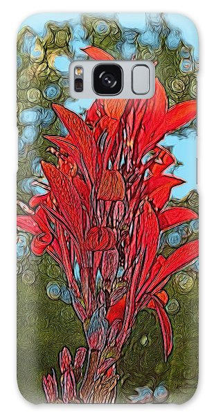 Canna Lily Galaxy Case by Dennis Lundell
