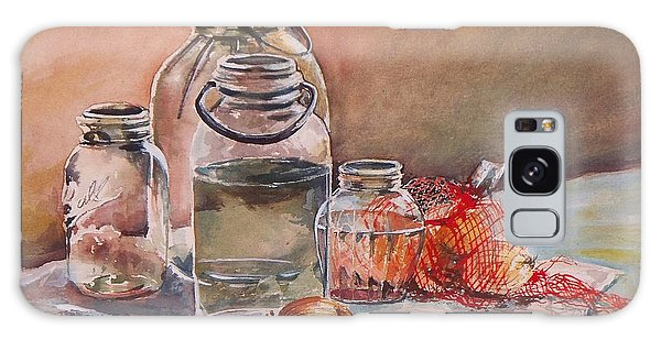 Canning Jars And Onions Galaxy Case by Joy Nichols