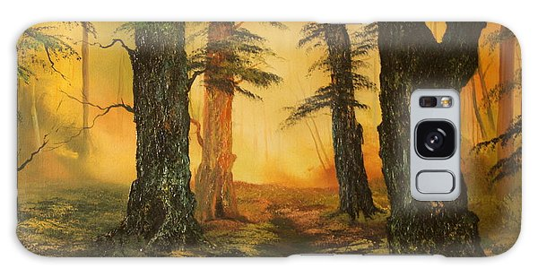 Cannock Chase Forest In Sunlight Galaxy Case by Jean Walker