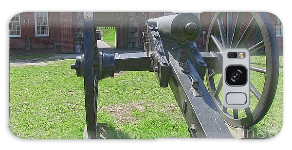 Cannon At Fort Pulaski Main Entrance Galaxy Case by D Wallace