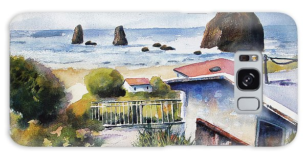 Cannon Beach Cottage Galaxy Case