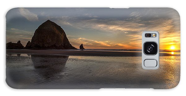 Cannon Beach Dusk Conclusion Galaxy Case by Mike Reid