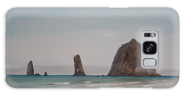 Cannon Beach Haystack Rock Galaxy Case by Ian Donley