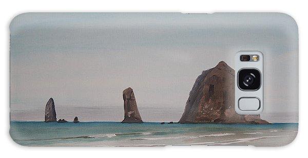 Cannon Beach Haystack Rock Galaxy Case by Ian Donley
