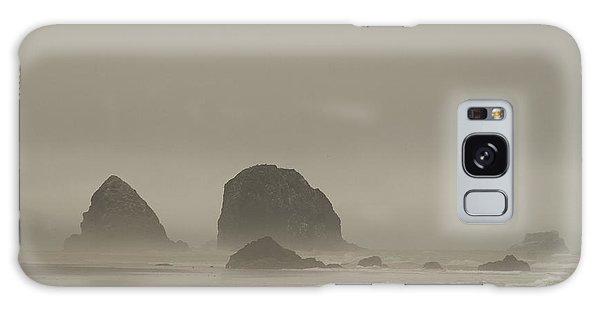 Cannon Beach In A Fog Oregon Galaxy Case