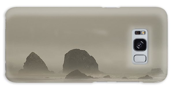 Cannon Beach In A Fog Oregon Galaxy Case