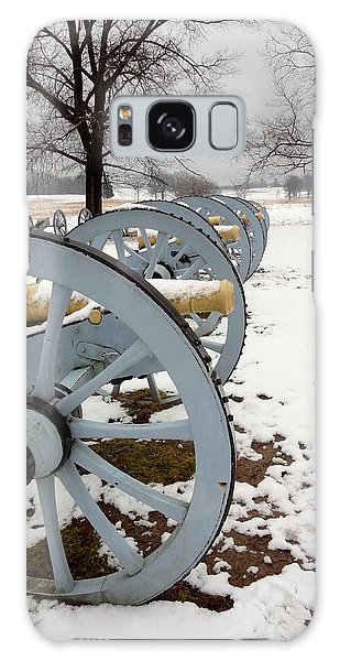 Cannon's In The Snow Galaxy Case by Michael Porchik