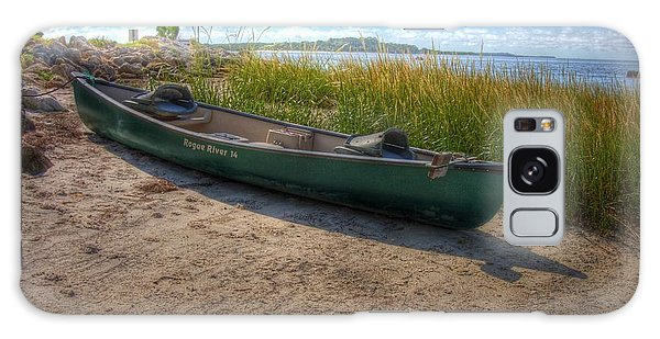 Canoe At Cedar Key Galaxy Case