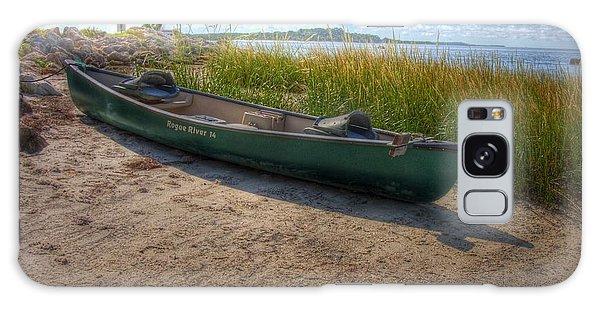 Canoe At Cedar Key Galaxy Case by Donald Williams