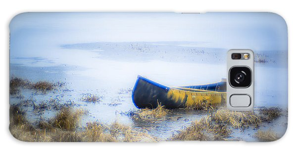 Canoe At The Frozen Lake Galaxy Case