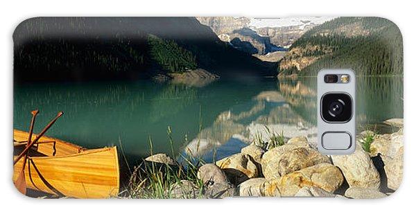 Canoe At The Lakeside, Lake Louise Galaxy Case