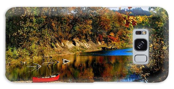 Canoe On The Gasconade River Galaxy Case