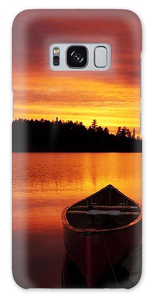 Canoe Sunset Galaxy Case