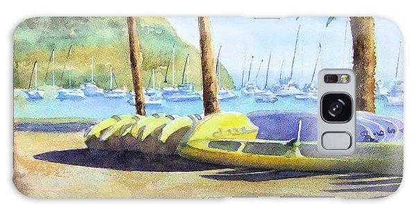 Canoes And Surfboards In The Morning Light - Catalina Galaxy Case