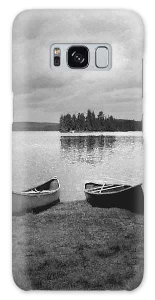 Canoes - Canisbay Lake - B N W Galaxy Case
