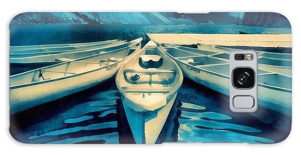 Moraine Lake Galaxy Case - Canoes by Edward Fielding
