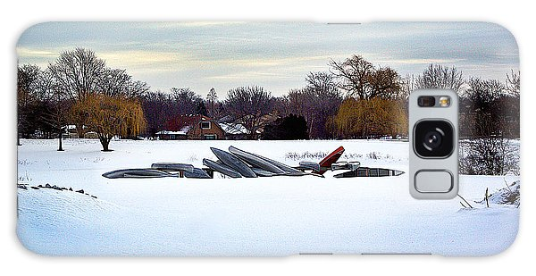 Canoes In The Snow Galaxy Case
