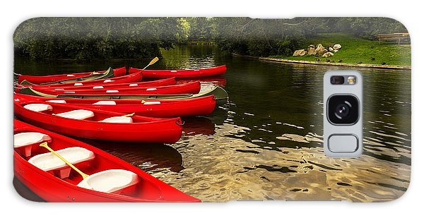 Canoes On A Lake Galaxy Case