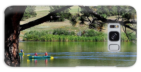 Canoes On Manitou Lake 11957 Galaxy Case