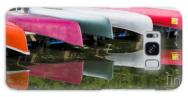 canoes - Lake Wingra - Madison  Galaxy Case by Steven Ralser