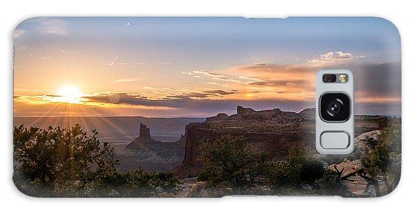 Canyon Lands Beautiful Sunset Galaxy Case by Michael J Bauer
