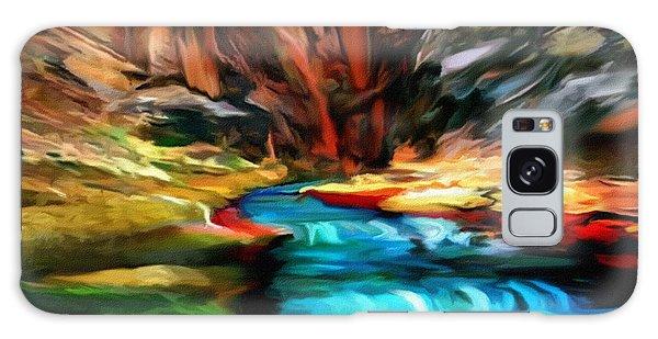 Canyon Waterfall Impressions Galaxy Case