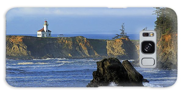 Cape Arago Lighthouse Galaxy Case by Daniel Woodrum