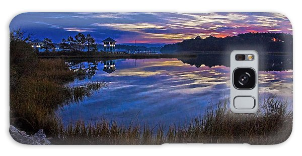 Cape Charles Sunrise Galaxy Case by Suzanne Stout