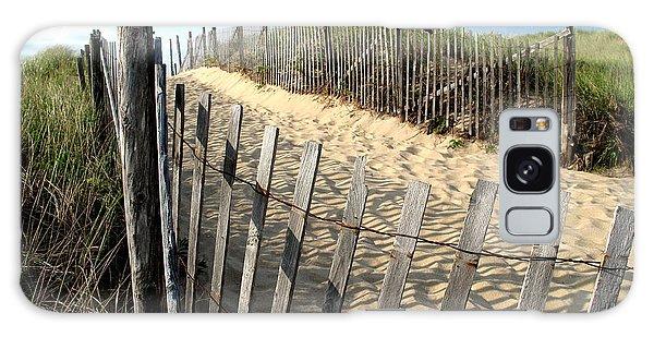 Cape Cod Dune Fencing Galaxy Case