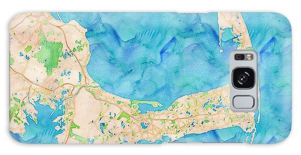 Galaxy Case featuring the digital art Cape Cod Watercolor Map by Joy McKenzie
