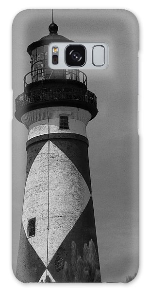 Cape Lookout Light Black And White 2  Galaxy Case