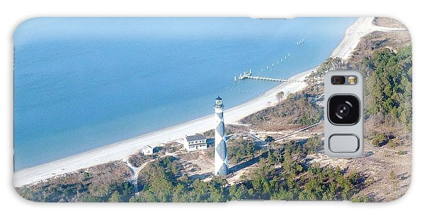 Cape Lookout Lighthouse Aerial View Galaxy Case by Dan Williams