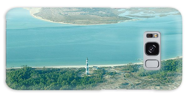 Cape Lookout Lighthouse From The Air Galaxy Case by Dan Williams