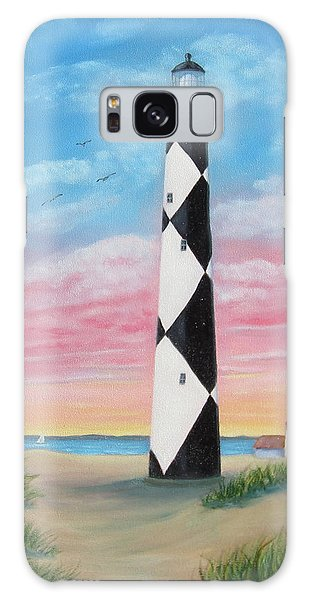 Cape Lookout Sunset Galaxy Case