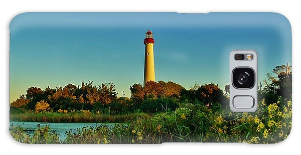 Cape May Lighthouse Above The Flowers Galaxy Case