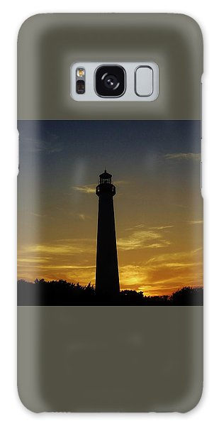 Cape May Lighthouse At Sunset Galaxy Case by Ed Sweeney