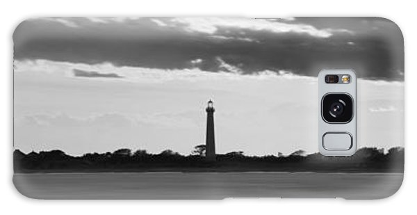 Cape May Galaxy Case - Cape May Lighthouse Sunset Panorama Bw by Michael Ver Sprill