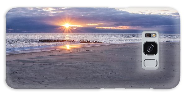 Cape May Point Winter Sunset Galaxy Case
