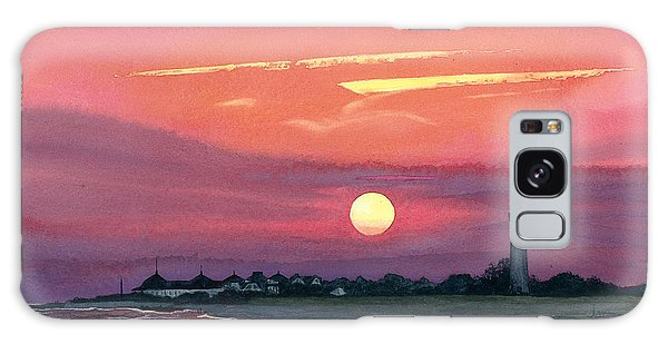 Cape May Sunset Galaxy Case by Barbara Jewell