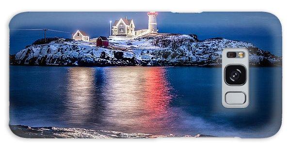 Cape Neddick Lighthouse Galaxy Case by Robert Clifford