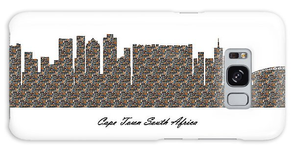Cape Town South Africa 3d Stone Wall Skyline Galaxy Case