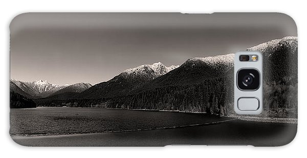 Capilano Dam In Black And White Galaxy Case