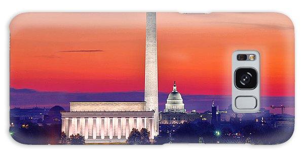 Capitol Dawn Galaxy Case by Mitch Cat