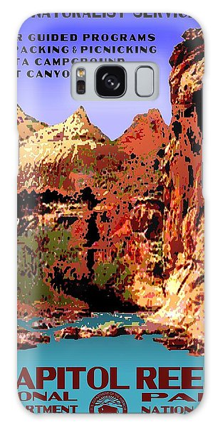 Capitol Reef National Park Vintage Poster Galaxy Case