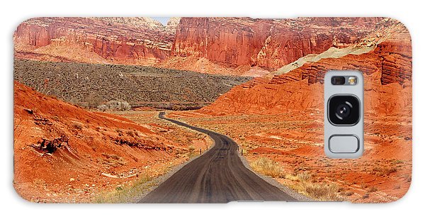 Capitol Reef Road Vii Galaxy Case by Daniel Woodrum