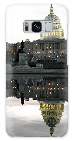 Capitol Reflection Galaxy Case by Mitch Cat