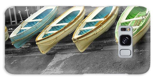 Capri Italy Aqua Green Boats Galaxy Case