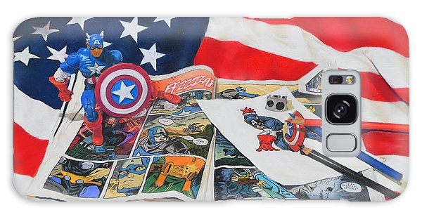 Captain America Galaxy Case